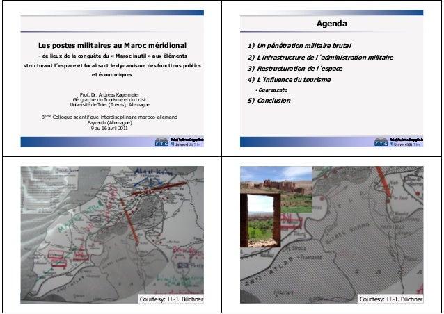 Agenda Les postes militaires au Maroc méridional  1) Un pénétration militaire brutal  – de lieux de la conquête du « Maroc...