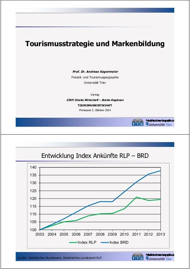 Tourismusstrategie und Markenbildung  Prof. Dr. Andreas Kagermeier  Freizeit- und Tourismusgeographie  Universität Trier  ...