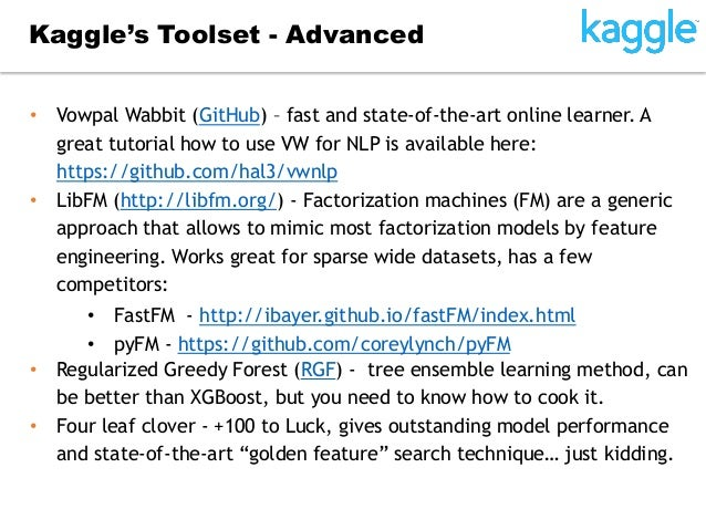 Winning Kaggle 101: Dmitry Larko's Experiences