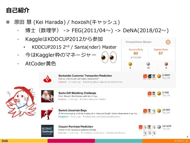 Kaggle meetup tokyo #6 スポンサーセッション Slide 2