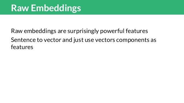 Which Wordvectors Glove, Word2vec? 50D, 100D, 200D, 300D? All of them? Ensembles improves when models run of different emb...