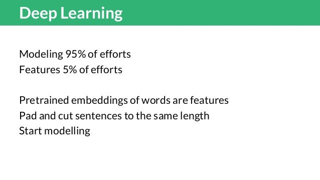 Ideas for NNs Sentence embeddings computed just as the mean of the word vectors are powerful