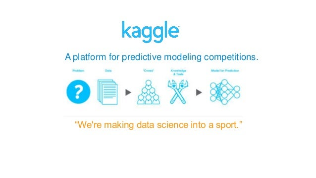 "A platform for predictive modeling competitions. ""We're making data science into a sport."""