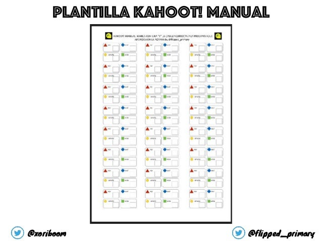 @xoriboom @flipped_primary Plantilla kahoot! Manual