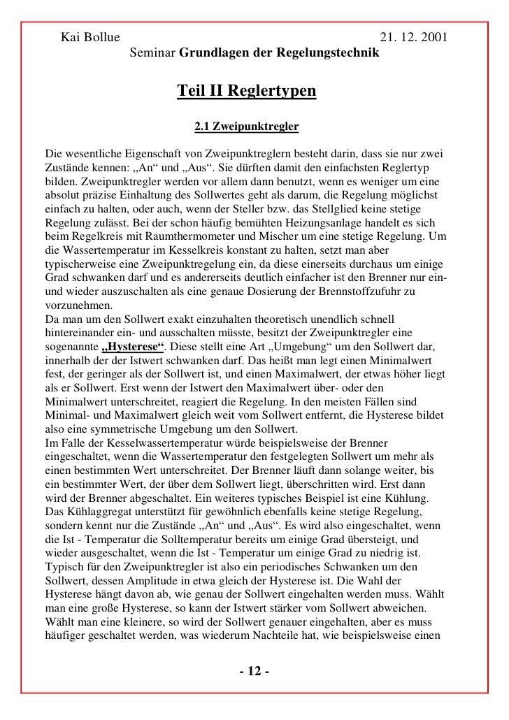 Kai Bollue                                                         21. 12. 2001                  Seminar Grundlagen der Re...