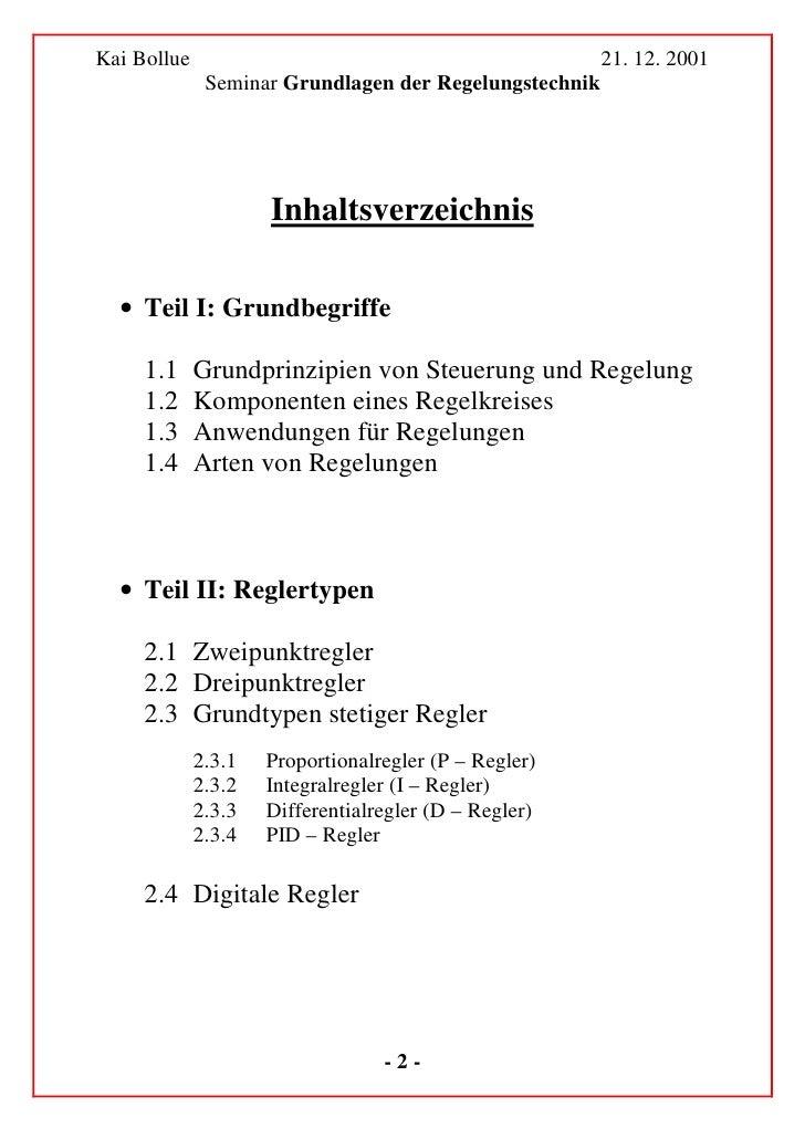 Kai Bollue                                              21. 12. 2001               Seminar Grundlagen der Regelungstechnik...
