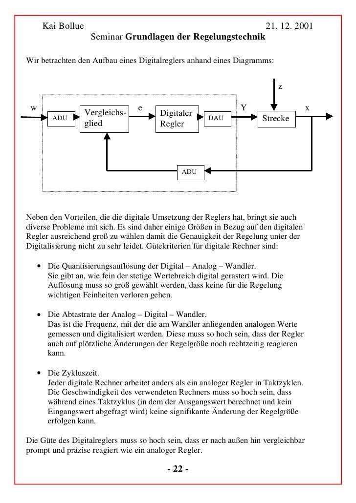 Kai Bollue                                                    21. 12. 2001              Seminar Grundlagen der Regelungste...