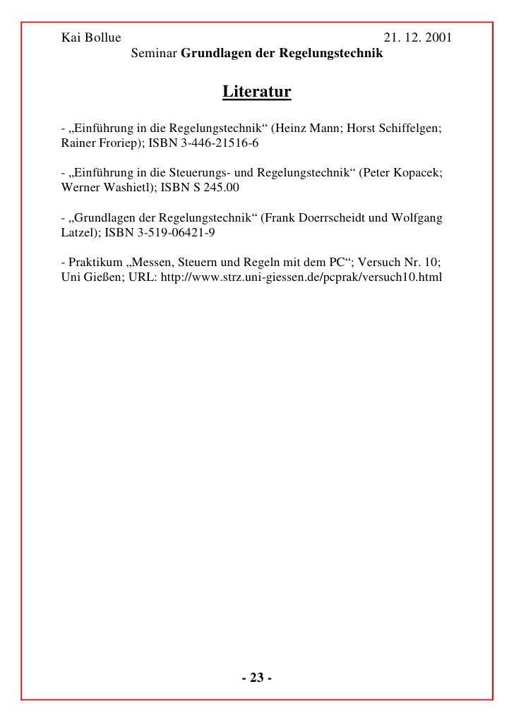 Kai Bollue                                                        21. 12. 2001                    Seminar Grundlagen der R...