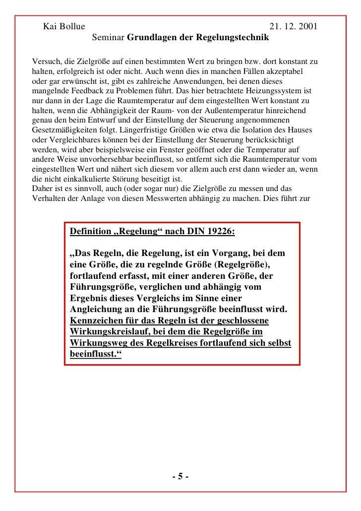 Kai Bollue                                                       21. 12. 2001                  Seminar Grundlagen der Rege...