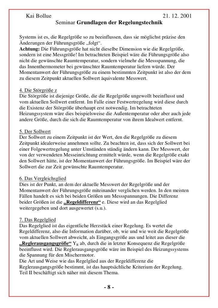 Kai Bollue                                                        21. 12. 2001                  Seminar Grundlagen der Reg...