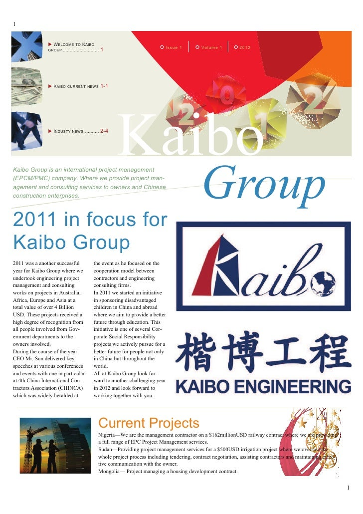 1                X W ELCOME TO KAIBO                                                                            Issue 1   ...