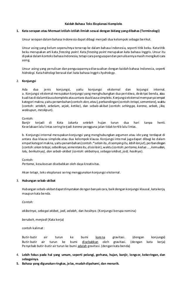 23+ Contoh Kalimat Sebab Akibat Dalam Teks Eksplanasi ...