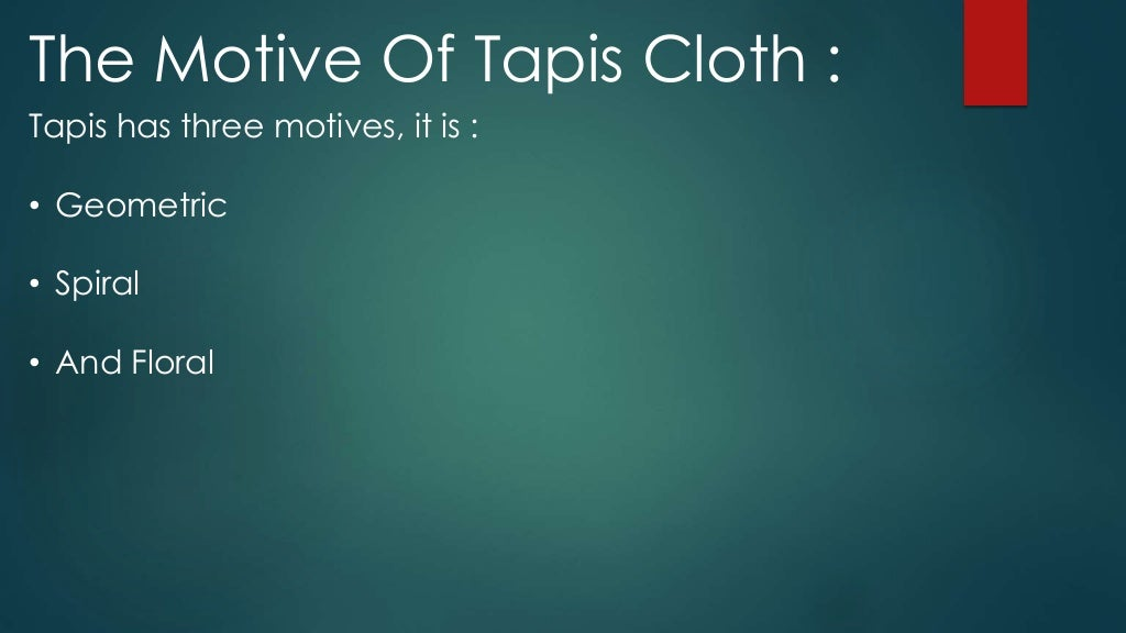 About Tapis Cloth Art From Lampung