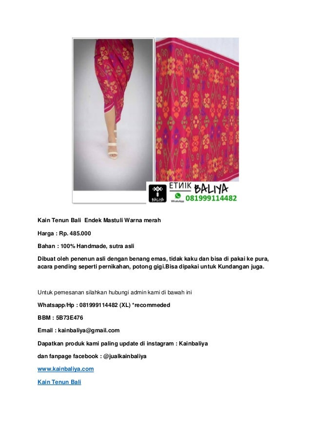 Kain tenun bali mastuli | Whatsapp/Hp : 081999114482 (XL)  Slide 2