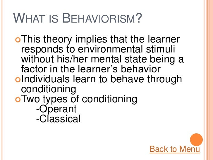 philosophies of learning theory This is an important area of learning theory, and eventually it will have its own page but for now, i'll just link to one page (with an iou for more later) from 1992, which is an extension-and-summary of earlier papers (1987, 1988) by the authors, david perkins & gavriel salomon,.
