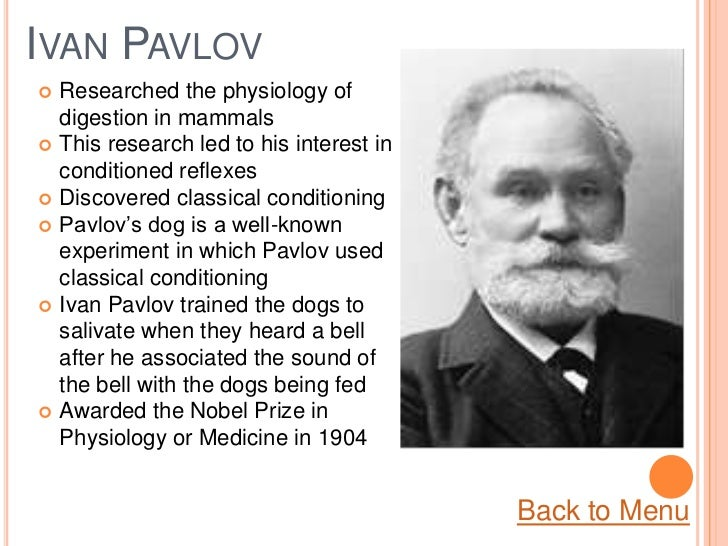 the life and the contributions to psychology of ivan petrovich pavlov A look at the life of ivan pavlov, his contributions to behavioral psychology and   ivan petrovich pavlov (1849-1936) was a russian physiologist remembered for.