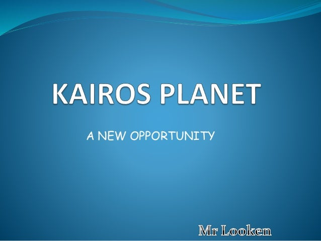 A NEW OPPORTUNITY