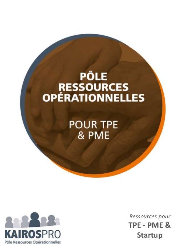 Ressources pour TPE - PME & Startup