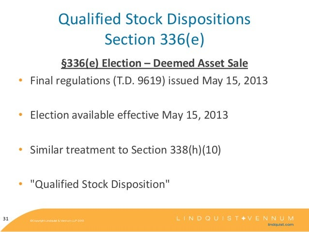 Qualified stock options tax treatment