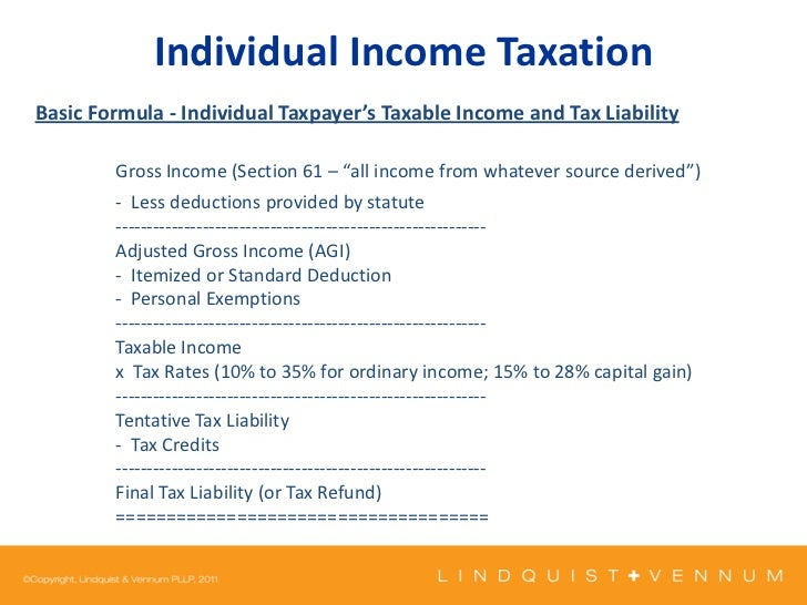 Kaiser - Individual Income Taxation slides