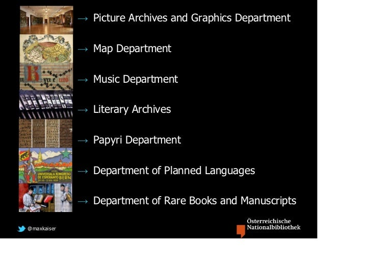 → Picture Archives and Graphics Department             → Map Department             → Music Department             → Liter...