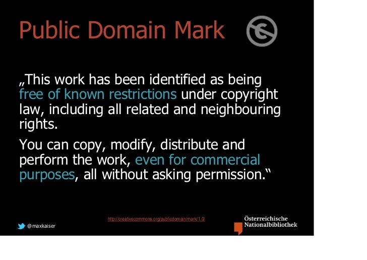 """Public Domain Mark""""This work has been identified as beingfree of known restrictions under copyrightlaw, including all rela..."""