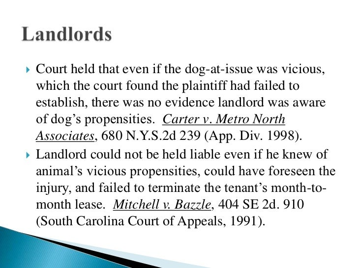 South Carolina Dog Bite Statute