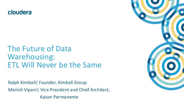 1© Cloudera, Inc. All rights reserved. The Future of Data Warehousing: ETL Will Never be the Same Ralph Kimball  Founder, ...