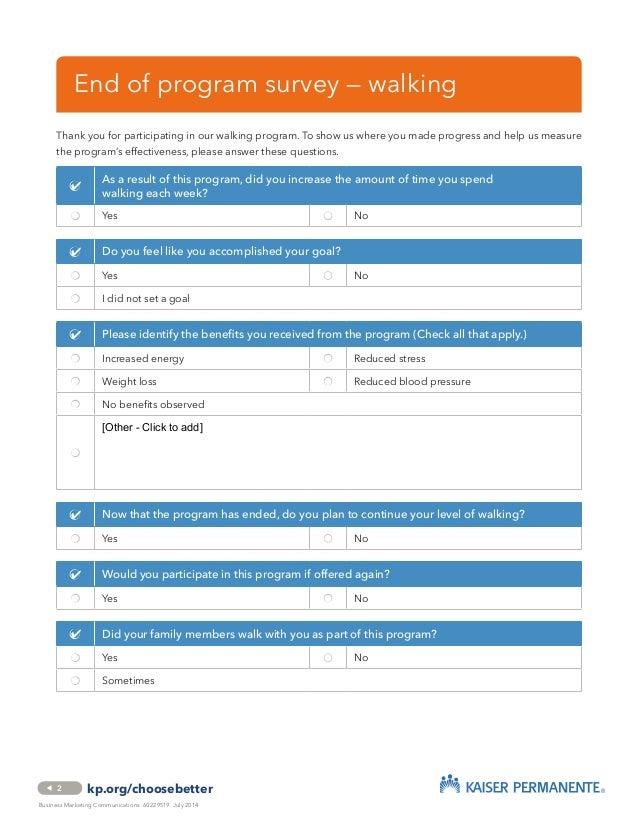 Employee Interest Survey on Walking