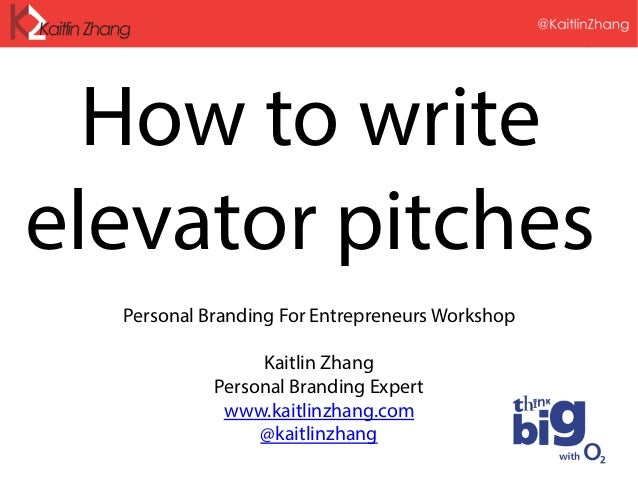 How to Write Elevator Pitches - Personal Branding for