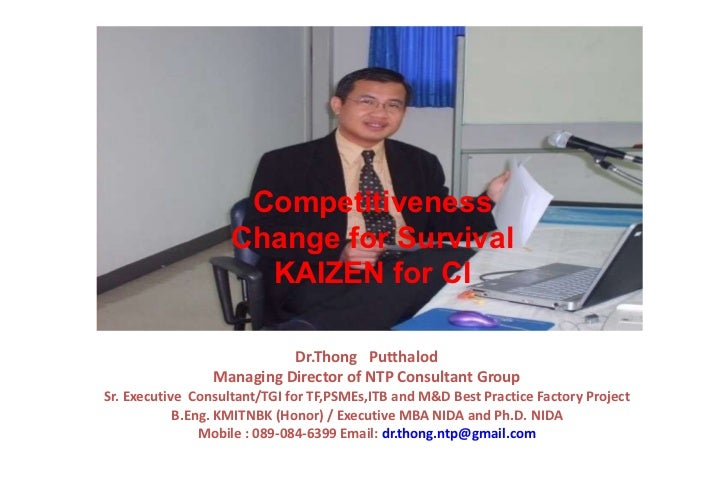 Dr.Thong  Putthalod  Managing Director of NTP Consultant Group Sr. Executive  Consultant/TGI for TF,PSMEs,ITB and M&D Best...