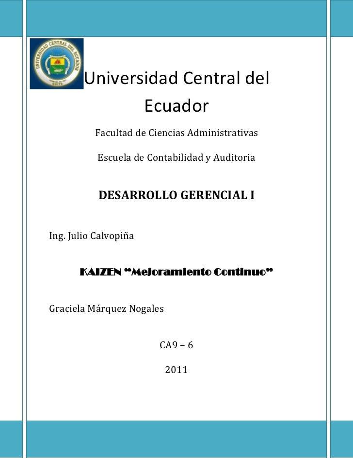 Universidad Central del               Ecuador          Facultad de Ciencias Administrativas           Escuela de Contabili...