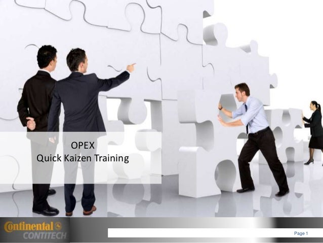 OPEX Quick Kaizen Training Page 1