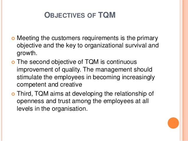 significance of tqm Significance of tqm the importance of tqm lies in the fact thatit encourages  innovation, makes theorganization adaptable to change,.