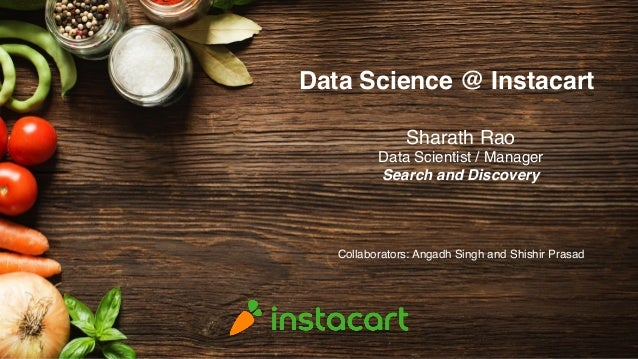 Data Science @ Instacart