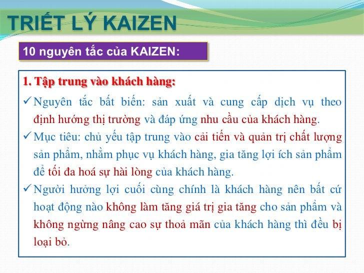 """TRIẾT LÝ KAIZEN 10 nguyên tắc của KAIZEN: 3. Xây dựng văn hóa «không đổ lỗi»:  Phương châm """"lỗi do tôi, thành công do tập..."""