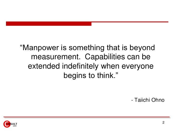 """2<br />""""Manpower is something that is beyond measurement.  Capabilities can be extended indefinitely when everyone begins ..."""