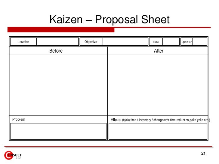 kaizen forms checklists. Black Bedroom Furniture Sets. Home Design Ideas