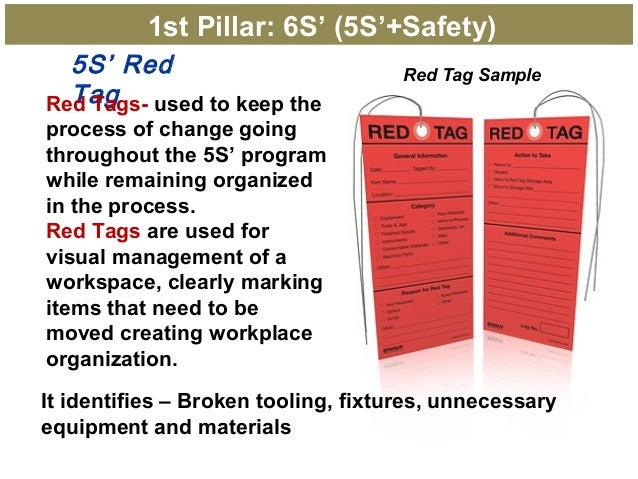 5S Red TagRed Tags