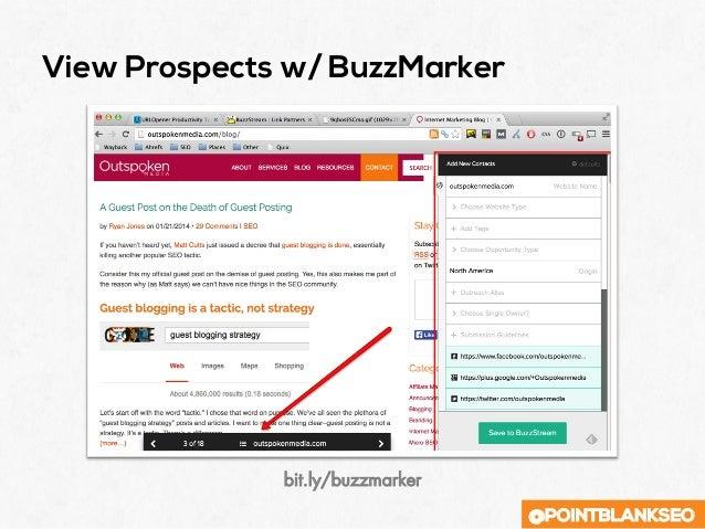 @POINTBLANKSEO View Prospects w/ BuzzMarker bit.ly/buzzmarker