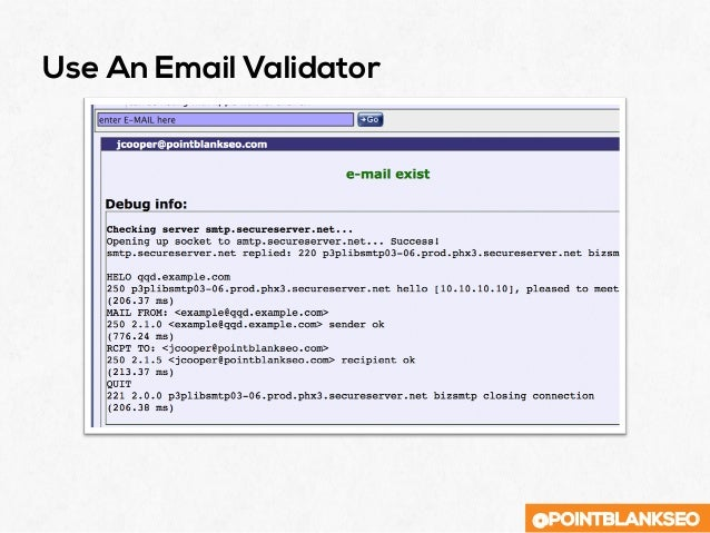 @POINTBLANKSEO Use An Email Validator