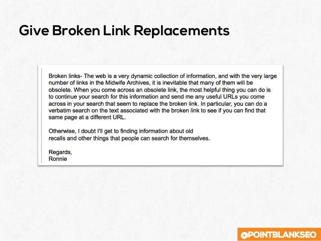 @POINTBLANKSEO Give Broken Link Replacements