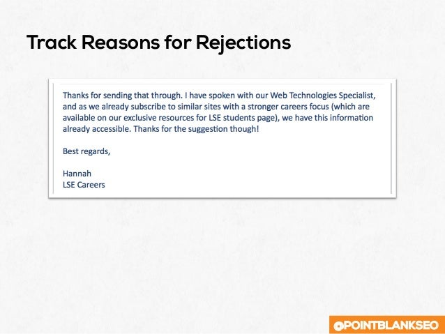 @POINTBLANKSEO Track Reasons for Rejections