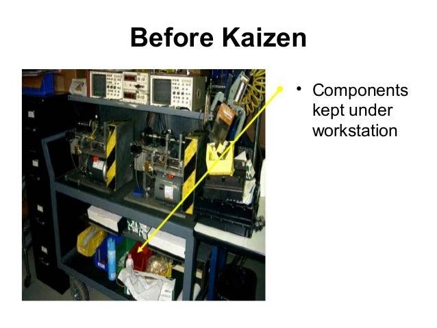 Before Kaizen• Componentskept underworkstation