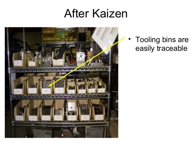 After Kaizen• Tooling bins areeasily traceable