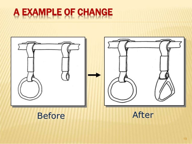 Before After A EXAMPLE OF CHANGE 19