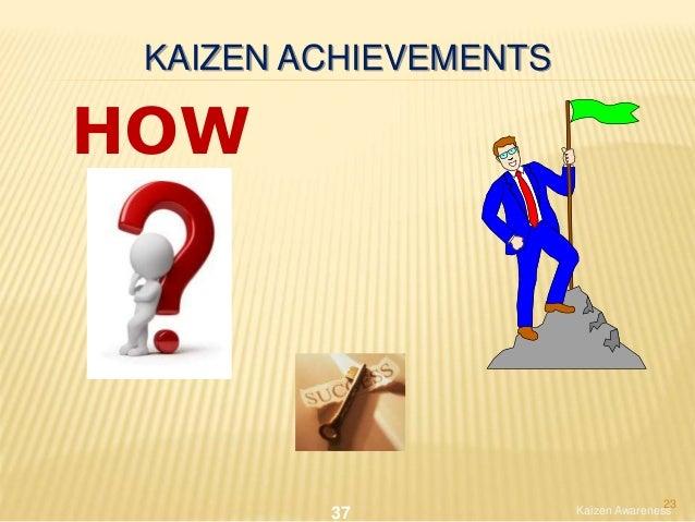 KAIZEN ACHIEVEMENTS HOW Kaizen Awareness37 23
