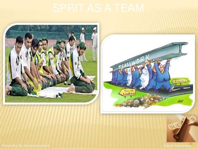 SPRIT AS A TEAM Kaizen AwarenessPresenting By: Muhammad Asim 26