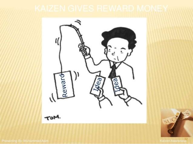 KAIZEN GIVES REWARD MONEY Kaizen AwarenessPresenting By: Muhammad Asim 32