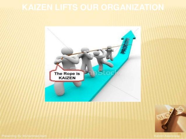KAIZEN LIFTS OUR ORGANIZATION Kaizen AwarenessPresenting By: Muhammad Asim 35